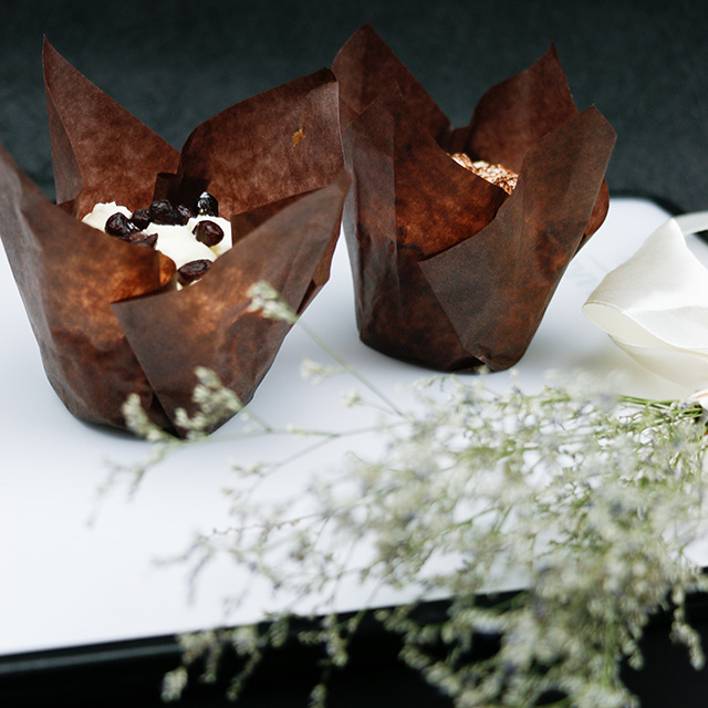 Chocolate Brown Tulip Baking Cup Liner